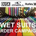春のウエットスーツオーダーキャンペーン!