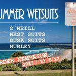 ウエットスーツ夏アイテム 「オーダーキャンペーン」